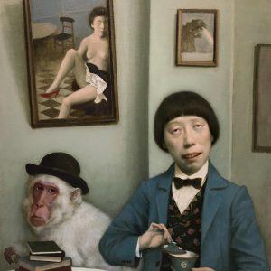 """Tea Time, 24 x 30"""", Oil on Canvas"""