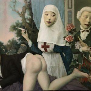 "Treatment, 24 x 36"", Oil on Canvas"