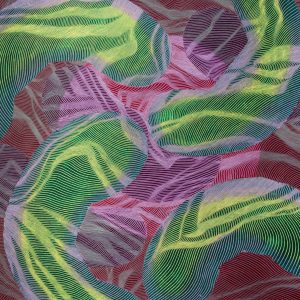 "Soft Plum Dawn, 2019, 16x20"", Oil & Pastel on Panel"