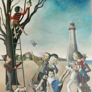 """ArrivaI, 2020, 48"""" x 36"""", Oil on Canvas"""