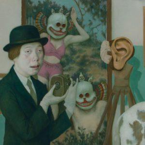 """Death Frame, 2021, 24"""" x 30"""", Oil On Canvas"""