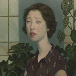 "Portrait Study - Green & Purple, 2021, 20"" x 16"", Oil On Canvas"